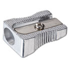 Metal Pencil Sharpener, Metallic Silver OIC30233