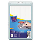 Erasable ID Labels, 7/8 x 2-7/8, White, 80/Pack AVE5429