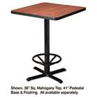 "Hospitality Table ""X"" Pedestal Base, 41"" High, Black MLNCA41B2025"