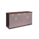 Wood Veneer Buffet Credenza Cabinet, 72w x 22d x 36h, Mahogany MLNVBCZBMAH