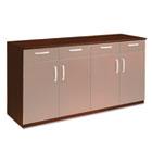 Wood Veneer Buffet Credenza Cabinet, 72w x 22d x 36h, Sierra Cherry MLNVBCZBCRY