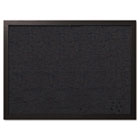 Designer Fabric Bulletin Board, 24X18, Black Fabric/Black Frame BVCFB0471168