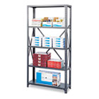 Commercial Steel Shelving Unit, Five-Shelf, 36w x 12d x 75h, Dark Gray SAF6265