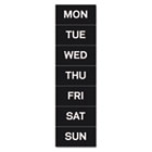 "Calendar Magnetic Tape, Days Of The Week, Black/White, 2"" x 1"" BVCFM1007"