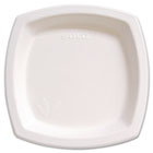"Bare Eco-Forward Dinnerware, 8 1/4"" Plate, Ivory, 125/Pack SCC8PSC2050PK"
