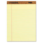 The Legal Pad Legal Rule Perforated Pads, Letter Size, Canary, 50 Sht Pds, Dozen TOP7532