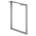 Voi O-Leg Support for Worksurface, 20d x 28-1/2h, Platinum Metallic HONVSL20LT