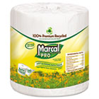 Marcal 100% Recycled Toilet Paper, 2 Ply, 4.3x3.7 in, 240 sht/rl, 48 rl/ct MRC3001