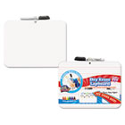 Double-Sided Dry Erase Lap Board with Marker, 12 x 9, White BDU11060XA6