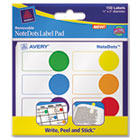 NoteDots Label Pad, 3/4 x 1 3/4, Removable Self-Adhesive, Assorted, 150/Pack AVE45285