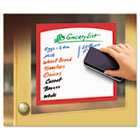 Peel & Stick Dry Erase Sheets, Border Sheets, 4 x 6, White/Asst., 4/Pack AVE24318