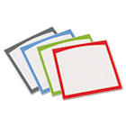 Peel & Stick Dry Erase Sheets, Border Sheets, 10 x 10, White/Asst., 4/Pack AVE24320