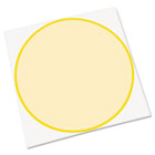 Peel & Stick Dry Erase Decals, Circles, 10 x 10 Sheets, Yellow, 3/Pack AVE24311