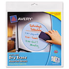 Peel & Stick Dry Erase Decals, Quotes, 10 x 10 Sheets, Yellow, 3/Pack AVE24309