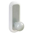 Designer Ball Hooks, Plastic, Silver, 2 Hooks & 4 Strips/Pack MMM17084S