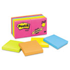 Original Pads in Neon Colors, 3 x 3, Five Neon Colors, 14 100-Sheet Pads/Pack MMM65414AN