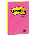 Original Pads in Neon Colors, 4 x 6, Lined, 3 Neon Colors, 3 100-Sheet Pads/Pack MMM6603AN