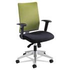 Tez Series Manager Synchro-Tilt Task Chair, Black Mesh Back, Green Fabric Seat SAF7031WA