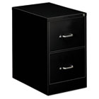 Two-Drawer Economy Vertical File, 18-1/4w x 26-1/2d x 29h, Black EFS22209