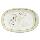 "Symphony Paper Dinnerware, Heavyweight Platter, 6"" x 8"", Tan, 125/Pack SLOPL86J8001PK"