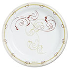"Symphony Paper Dinnerware, Heavyweight Plate, 9"", Tan, 125/Pack SLOHP9SJ8001PK"