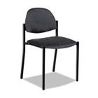 Comet Series Armless Stacking Chair, Gray Polypropylene Fabric, 3/Carton GLB2172BKPB04