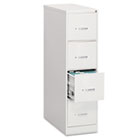 Four-Drawer Economy Vertical File, 18-1/4w x 26-1/2d x 52h, Light Gray EFS42207