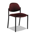 Comet Series Armless Stacking Chair, Burgundy Polypropylene Fabric, 3/Carton GLB2172BKPB07