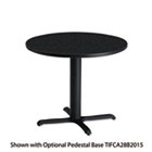 "Bistro Series 30"" Round Laminate Table Top, Charcoal Anthracite MLNCA30RTANT"