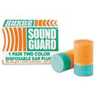 6515001376345 Ear Plugs, Uncorded, PVC Foam, Orange/Green, 200 Pairs/Box NSN1376345