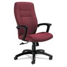 Synopsis Series High-Back Tilter Chair, Black Arms/Base, Cabernet Fabric GLB50904BKS101
