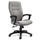 Synopsis Series High-Back Tilter Chair, Black Arms/Base, Graphite Fabric GLB50904BKS111