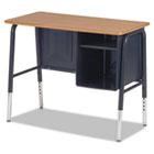 Jr. Executive Desk, 34w x 20d x 30h, Walnut VIR765078