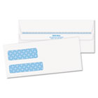 Double Window Tinted Redi-Seal Check Envelope, #9, White, 500/Box QUA24529