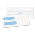 Double Window Tinted Redi-Seal Check Envelope, #8, White, 500/Box QUA24539