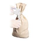 Heavyweight Cotton Duck Cloth Coin Bag, Seal Press, 12 x 19, White MMF2310319W06
