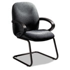 Enterprise Series Side Arm Chair, Polypropylene Fabric, Gray GLB4565BKPB04