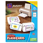 Printable Flash Cards, Hole Punched, 2 1/2 x 4, White, 8 Cards/Sheet, 200/Pack AVE04761