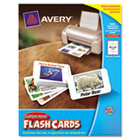 Printable Flash Cards, 2 1/2 x 4, White, 8 Cards/Sheet, 200/Pack AVE04760