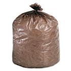 Eco-Degradable Plastic Trash Bag, 20-30gal, .8mil, 30 x 36, Brown, 60/Box STOG3036B80