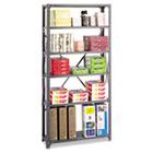 Commercial Steel Shelving Unit, Six-Shelf, 36w x 12d x 75h, Dark Gray SAF6268
