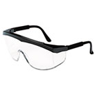 Stratos Safety Glasses, Black Frame, Clear Lens CRWSS110