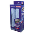 Large-Sized Microfiber Towels Two-Pack, 15 x 15, Unscented, Blue, 2/Pack END11421
