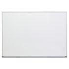 Dry Erase Board, Melamine, 48 x 36, Satin-Finished Aluminum Frame UNV43624