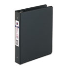 "Mini Economy Binder with Round Rings, 5-1/2"" x 8-1/2"", 1"" Capacity, Black AVE03002"