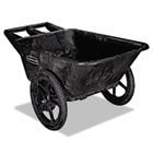 Big Wheel Agriculture Cart, 300-lb Cap, 32-3/4 x 58 x 28-1/4, Black RCP5642BLA