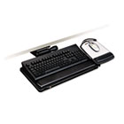"""Easy Adjust Keyboard Tray With Highly Adjustable Platform, 17-3/4"""" Track, Black MMMAKT151LE"""