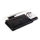 "Positive Locking Keyboard Tray, Highly Adjustable Platform, 17-3/4"" Track, Black MMMAKT101LE"