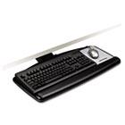 "Positive Locking Keyboard Tray, Standard Platform, 17-3/4"" Track, Black MMMAKT71LE"