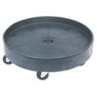 Brute Container Universal Drum Dolly, 500lb, Black RCP2650BLA